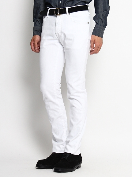 ヤコブコーエン(JACOB COHEN)のCotton&Polyester Stretch White Denim PANTS / パンツ