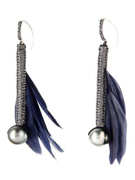 (Simon Alcantara)のFeather&South Sea Pearl Pierce ACCESSORIES / アクセサリー