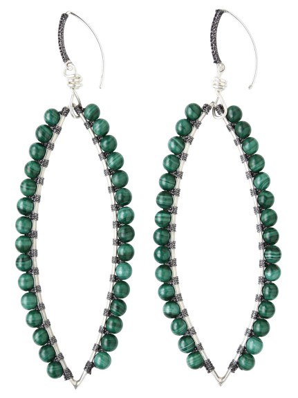 (Simon Alcantara)のLeaf Pierce Malachite Small ACCESSORIES / アクセサリー