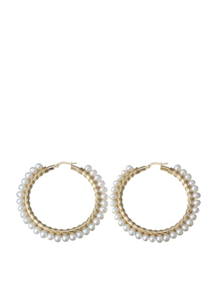 (Simon Alcantara)のYellowGold-Pearl 45mm ACCESSORIES / アクセサリー