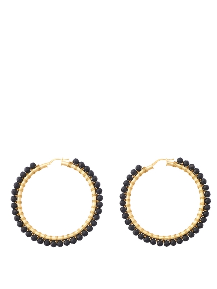 (Simon Alcantara)のYellowGold-Onyx 50mm ACCESSORIES / アクセサリー