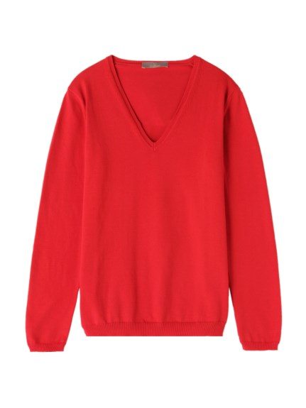 クルチアーニ(Cruciani)の27Gauge Cotton V-neck Knit KNITWEAR / ニット