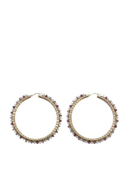 (Simon Alcantara)のYellow Gold Hoops Hand Woven 50mm ACCESSORIES / アクセサリー